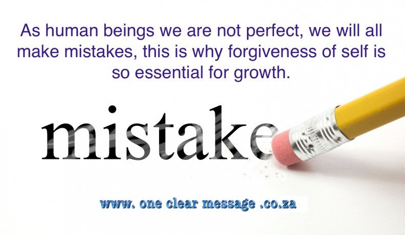 mistakes forgiveness Personal Power