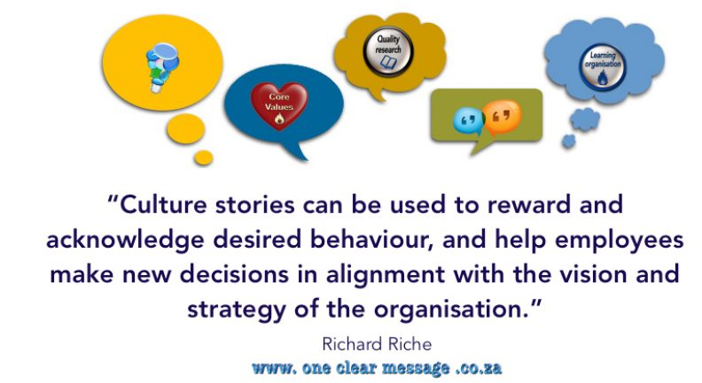 share culture stories Core values are the keys to a positive business culture
