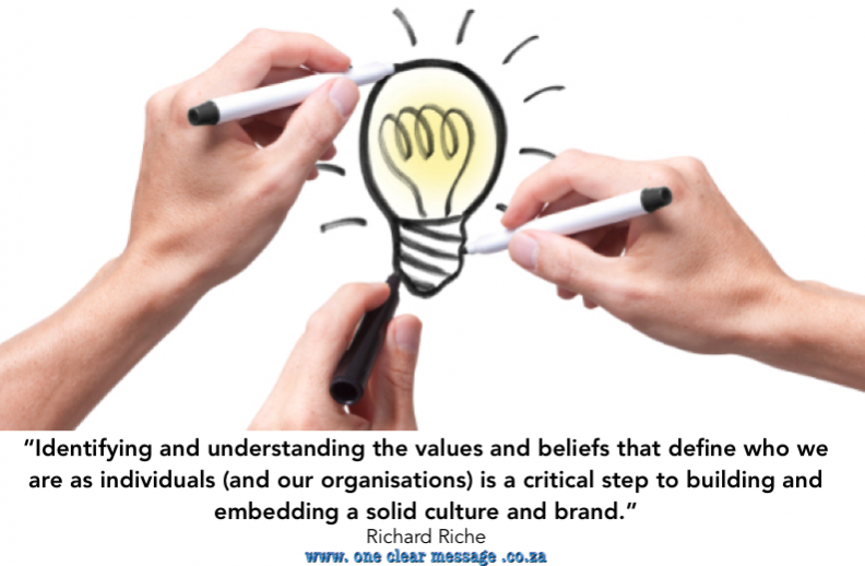 values based culture and brand