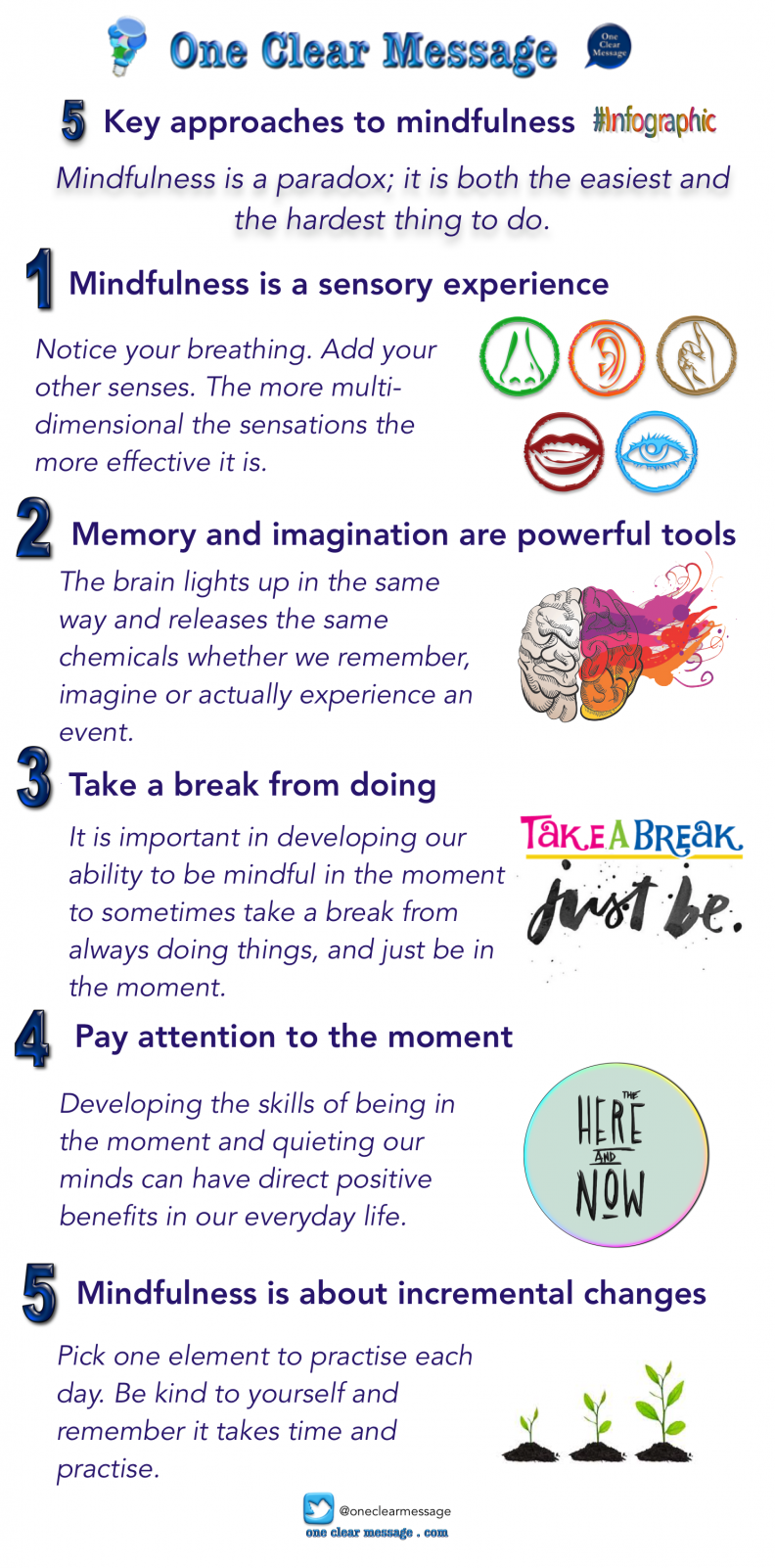 5-Key-approaches-to-mindfulness #Infographic
