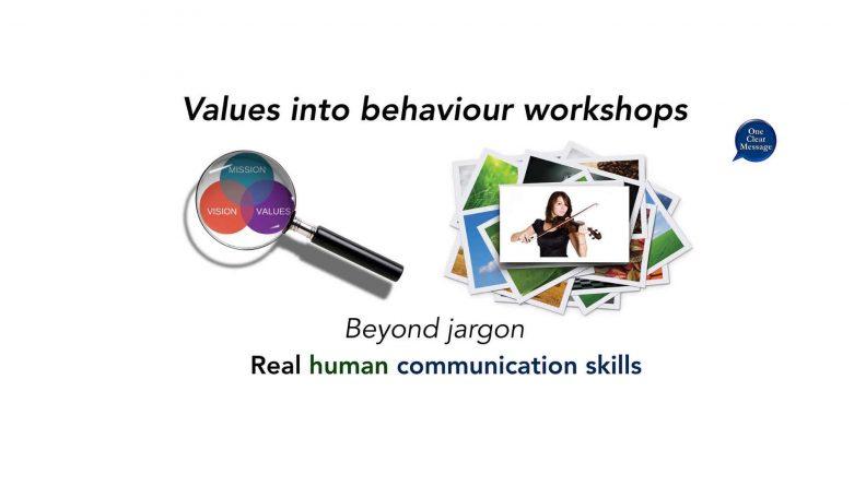 Beyong jargon values into behaviour real human communication skills