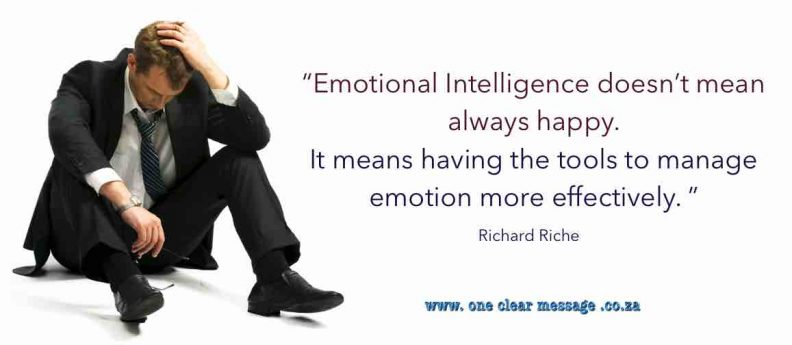 Emotional intelligence doesn't mean always happy