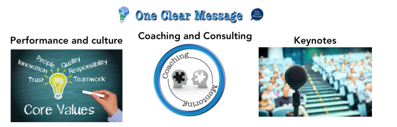 One Clear MessOne Clear Message consulting offerings – Coaching, consulting, training and human touch baseage offerings – Coaching, consulting, training and human touch base