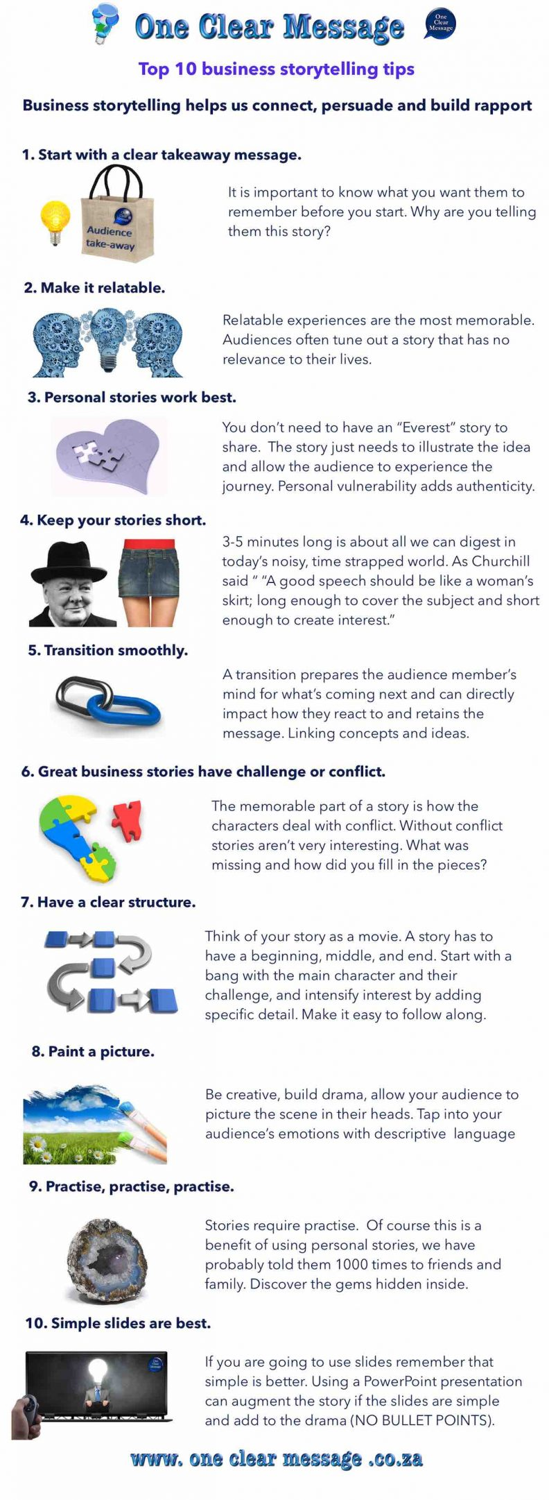 business storytelling tips infographic