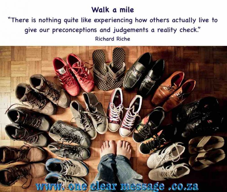 developing empathy walk a mile in their shoes