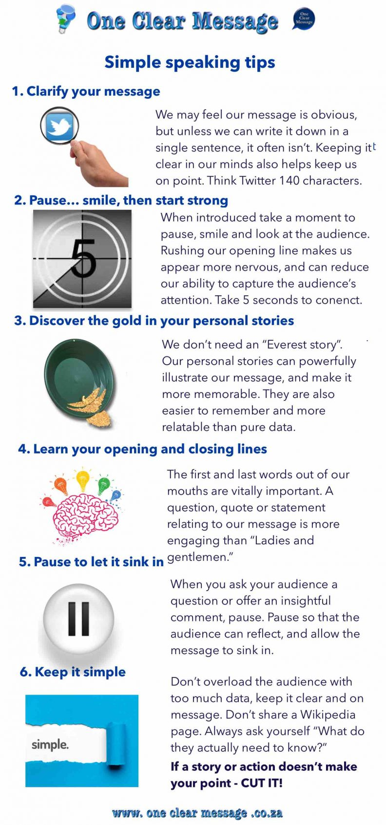 simple speaking tips infographic