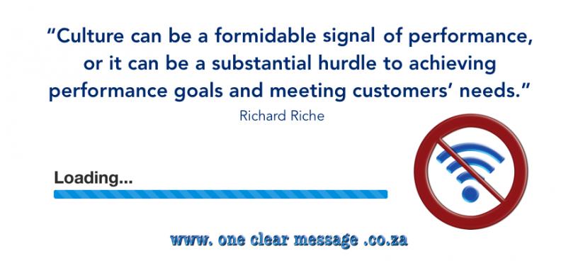 Culture signals or prevents success