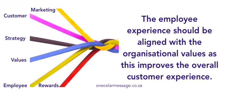 aligned values for customers and employee experience