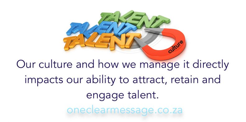 employee engagement and Culture helps attract talent