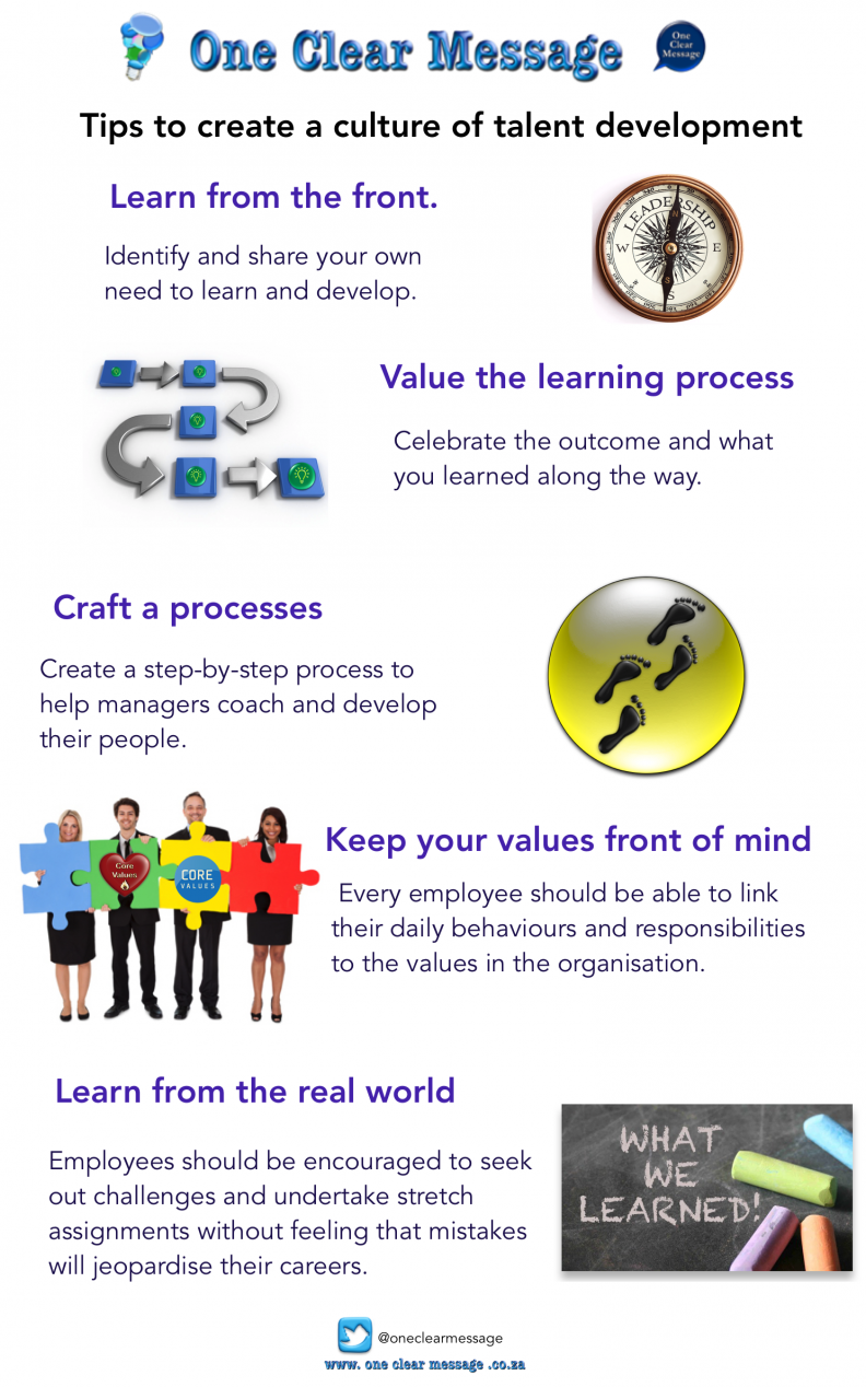 Tips to create a culture of talent development Infographic