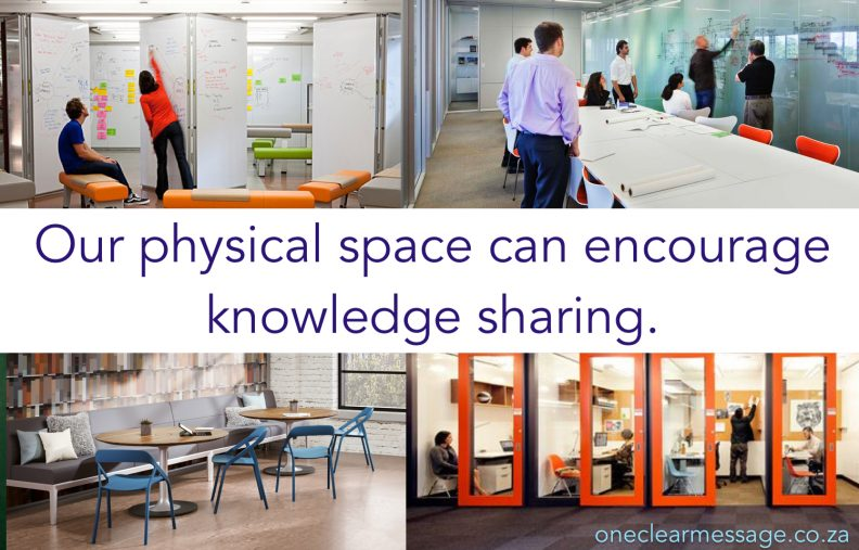 Our physical space can encourage knowledge sharing
