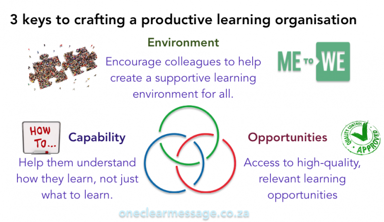 3 key components to craft a productive learning organisation
