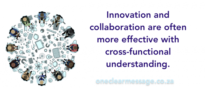 Innovation and collaboration are often more effective with cross-functional understanding