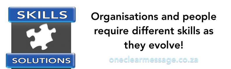 Organisations and people require different skills as they evolve