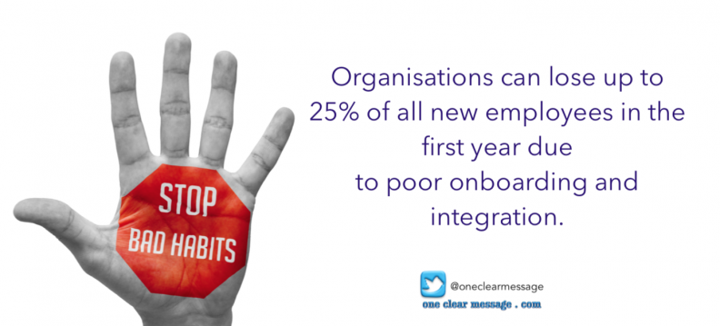Organisations can lose up to 25% of all new employees in the first year due to poor onboarding