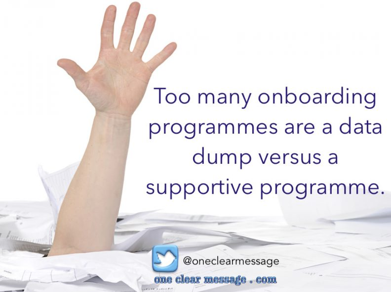 Too many onboarding programmes are a data dump vs a supportive programme http://bit.ly/OnBrdng #OnboardingProgramme