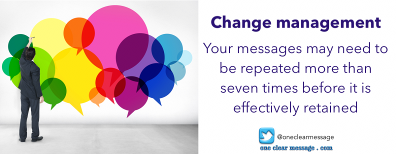 communicate more than 7 times change management tips