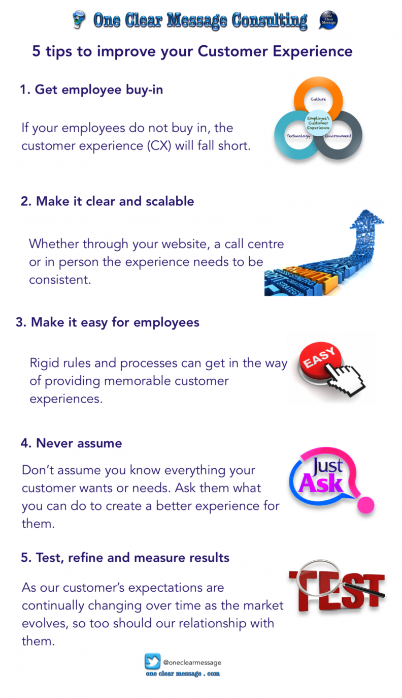 5 tips to improve your Customer Experience #Infographic