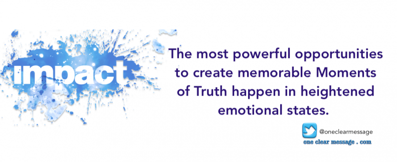 The most powerful opportunities to create memorable employee and customer Moments of Truth happen in heightened emotional states